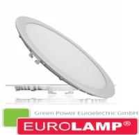 Врезной светодиодный светильник EUROLAMP 20 Вт. (круглый) LED-DLR-20/4