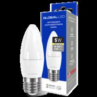 светодиодная LED ЛАМПочка брэнда GLOBAL C37 CL-F 5W мягкий СВЕТ 220V E27 AP от Максус(1-GBL-131) (NEW)