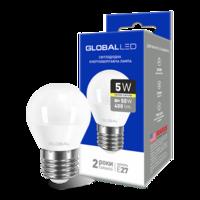 светодиодная LED ЛАМПА брэнд GLOBAL G45 F 5W МЯГКИЙ СВЕТ 220V E27 AP (1-GBL-141) (от MAXUS NEW)