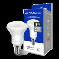 светодиодная LED лампа GLOBAL R50 5W яркий свет 220V E14 от MAXUS (1-GBL-154) (NEW)