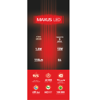 LED ЛАМПА 1.5W ЯРКИЙ СВЕТ G4 12V (1-LED-278)