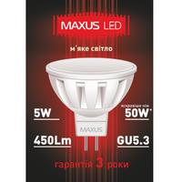 LED ЛАМПА 5W МЯГКИЙ СВЕТ MR16 GU5.3 220V (1-LED-289)