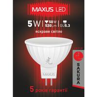 LED ЛАМПА 5W ЯРКИЙ СВЕТ MR16 GU5.3 220V (1-LED-400-01)