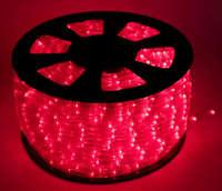 Дюралайт-лента 60SMD силикон красная 3528 220V 360 Lm