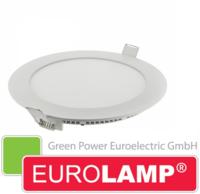 Врезной светодиодный светильник EUROLAMP 12 Вт. (круглый)
