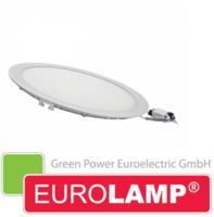 Врезной светодиодный светильник EUROLAMP 15 Вт. (круглый)