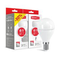 Набор LED ламп MAXUS G45 6W яркий свет E14 (2-LED-544)