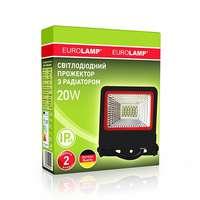 Прожектор черный с радиатором NEW 20W 6500K EUROELECTRIC LED SMD