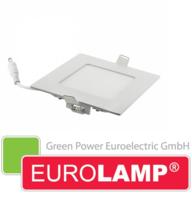 Врезной светодиодный светильник EUROLAMP 4 Вт. (квадрат)