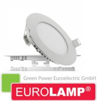 Врезной светодиодный светильник EUROLAMP 6 Вт. (круглый)