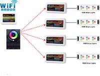 Комплект для беспроводного управления RGB Светодиодной лентой с Помощью ДУ пульта и Телефона на системе IOS,Adnroid