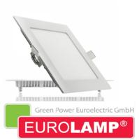 Врезной светодиодный светильник EUROLAMP 18 Вт. (квадрат)