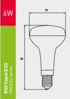 светодиодная лампочка EUROLAMP LED серии ЕКО R50 6W E14 3000K LED-R50-06142(D)